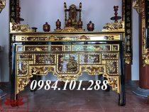 Mẫu bàn thờ nhà thờ họ đẹp phổ biến nhất