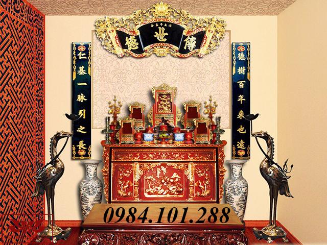 mẫu thiết kế 3d nội thất nhà thờ tư gia 02