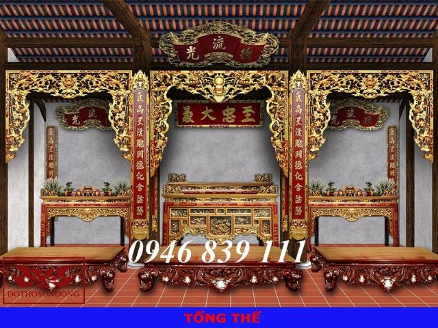 mẫu thiết kế 3d nội thất nhà thờ họ 04
