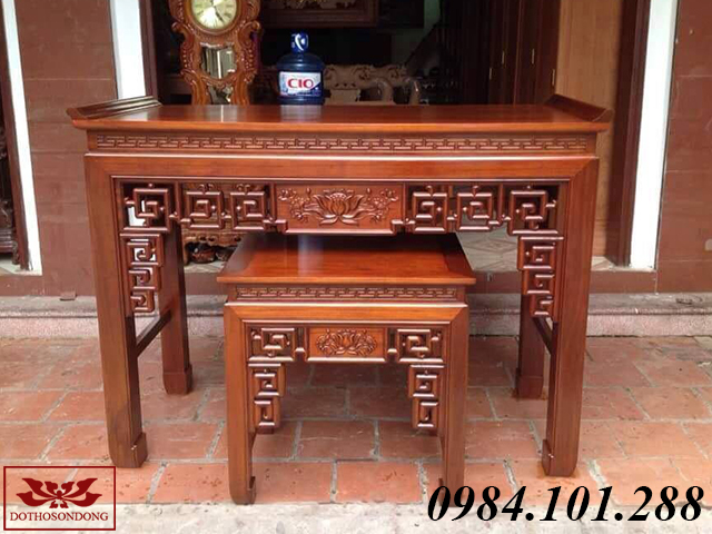 án gian thờ gỗ gụ ms 36