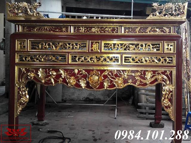 án gian thờ gỗ mít ms 34