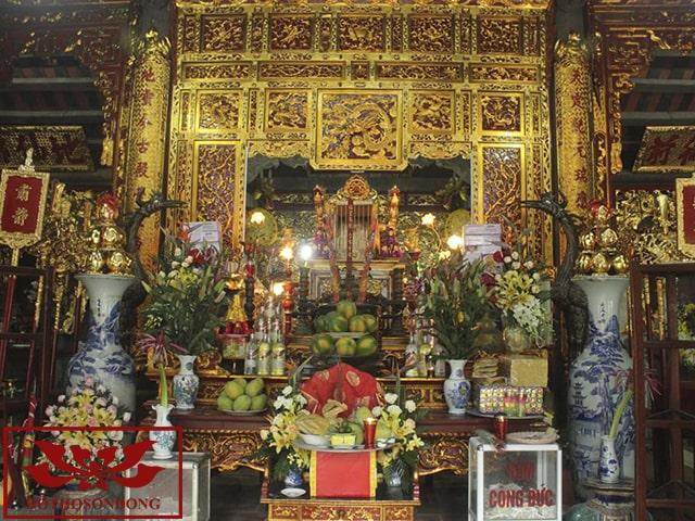 gian thờ chính đền đậu an