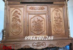Mẫu tủ thờ gia tiên đẹp thông dụng nhất