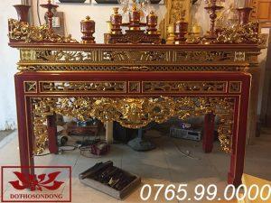 án gian thờ gỗ mít sơn son thếp vàng ms01