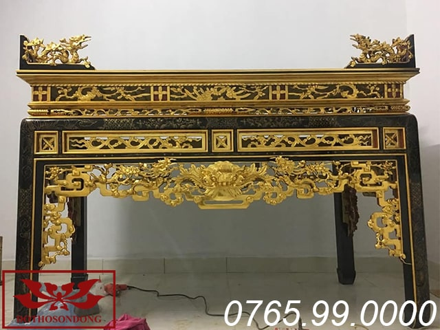 án gian thờ gỗ mít sơn son thếp vàng ms07