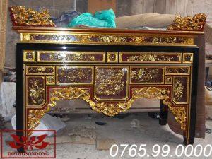 bàn thờ ô xa gỗ mít sơn son thếp vàng ms02