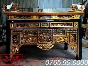 bàn thờ ô xa gỗ mít sơn son thếp vàng ms05