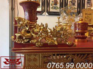 bao đơn mẫu án gian thờ gỗ mít sơn son thếp vàng ms01