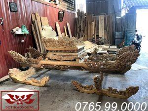 kiệu bát cống sập bành gỗ dổi ms08