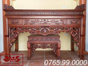 án gian thờ đẹp gỗ gụ chạm như ý ms21
