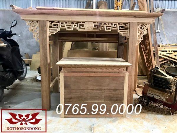 mẫu án gian thờ đẹp đơn giản gỗ gụ