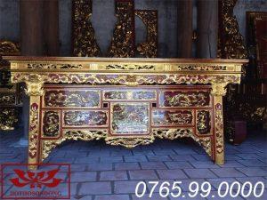 bàn thờ chấp tải gỗ mít sơn son thếp vàng ms07