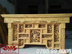 bàn thờ cháp tải gỗ mít ms08