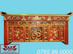 bàn thờ chấp tải gỗ mít sơn son thếp vàng ms13