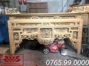 bàn thờ ô xa gỗ dổi ms16