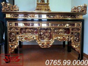 bàn thờ ô xa gỗ mít sơn son thếp vàng ms18