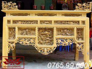 bàn thờ ô xa gỗ mít ms20