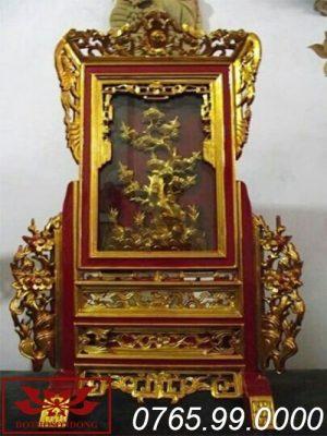 Giá gương gỗ mít sơn son thếp vàng ms04