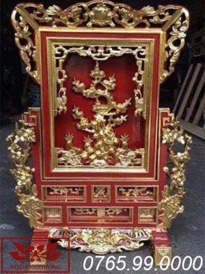 Giá gương bằng gỗ mít sơn son thếp vàng ms05