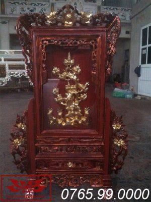 Giá gương bằng gỗ mít sơn giả cổ ms06