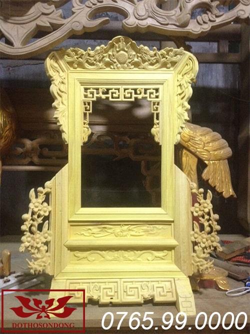 Khung ảnh thờ bằng gỗ mít ms02