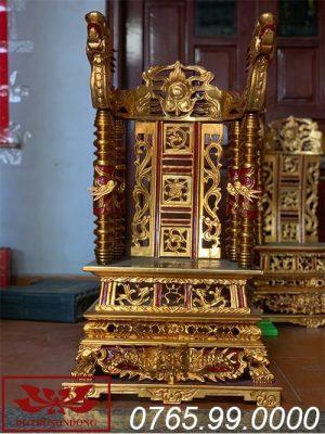 ngai thờ gỗ mít sơn son thếp vàng ms14
