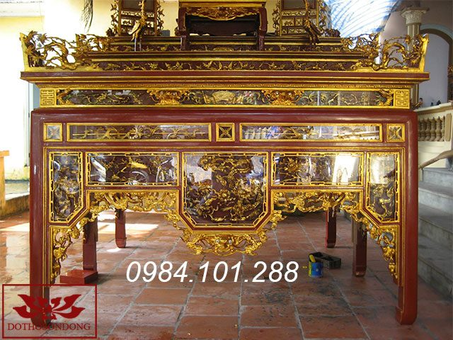 mẫu bàn thờ đẹp - ô xa thờ 15