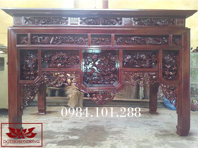 bàn thờ ô xa gỗ gụ ms24