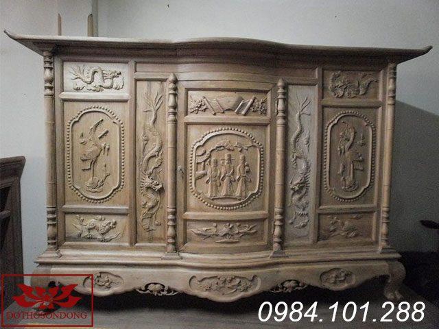 tủ thờ gỗ dổi 05