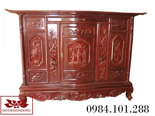 tủ thờ gỗ gụ 09