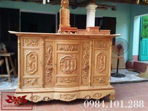 tủ thờ gỗ mít ms 10