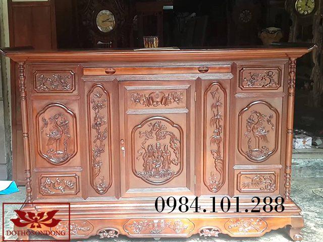 tủ thờ gỗ gụ 11