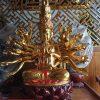 Tượng thiên thủ thiên nhãn bằng gỗ mít sơn son thếp vàng ms12