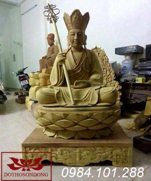 tượng địa tạng vương bồ tát bằng gỗ 16
