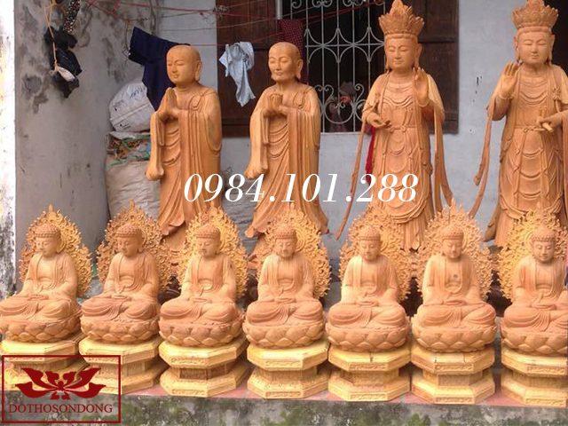 tượng phật dược sư bằng gỗ 02