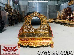 bàn loan hầu đồng gỗ mít sơn son thếp vàng ms01