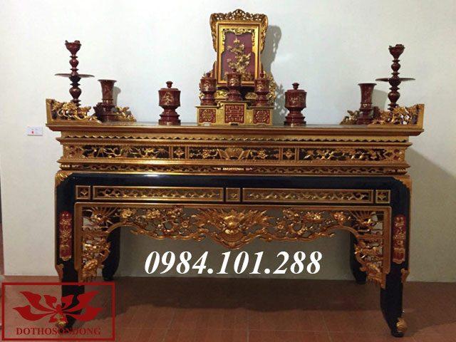 Án gian thờ gỗ mít ms 39