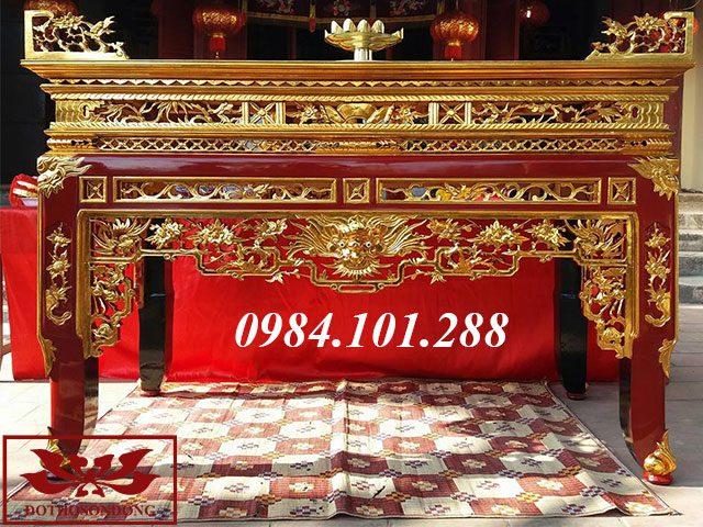 án gian thờ gỗ mít sơn son thếp vàng 31