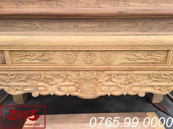 dạ án gian thờ nhị cấp gỗ gụ ms29
