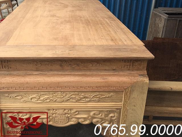 mặt án gian thờ nhị cấp gỗ gụ ms29