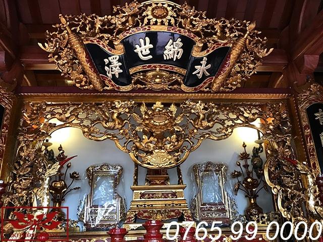 gian thờ chính mẫu nội thất nhà thờ họ tại nghệ an