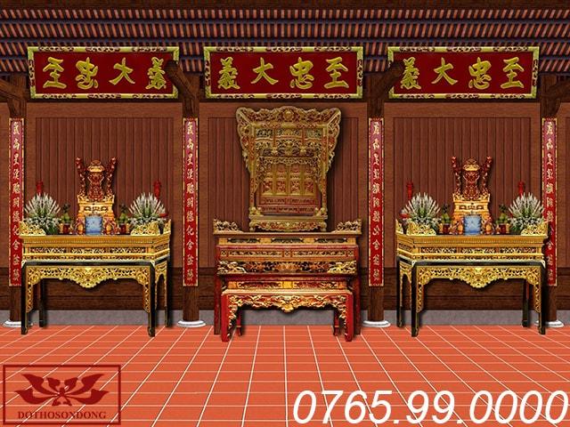 mẫu thiết kế nội thất nhà thờ họ 3 gian ms03