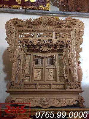 khám thờ gỗ mít thờ gia tiên ms12