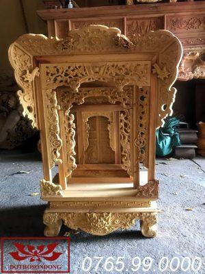 khám thờ gỗ mít thờ gia tiên ms11