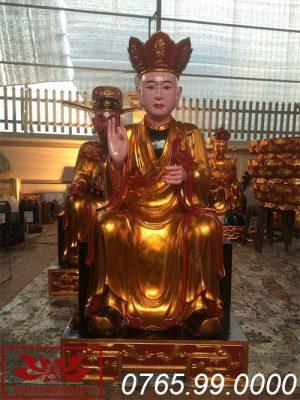 Tượng Đức Thánh Hiền bằng gỗ mít sơn son thếp vàng ms01