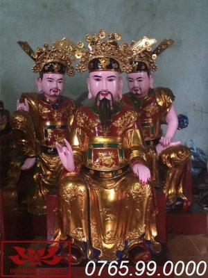 Tượng Trần Triều gỗ mít sơn son thếp vàng ms01